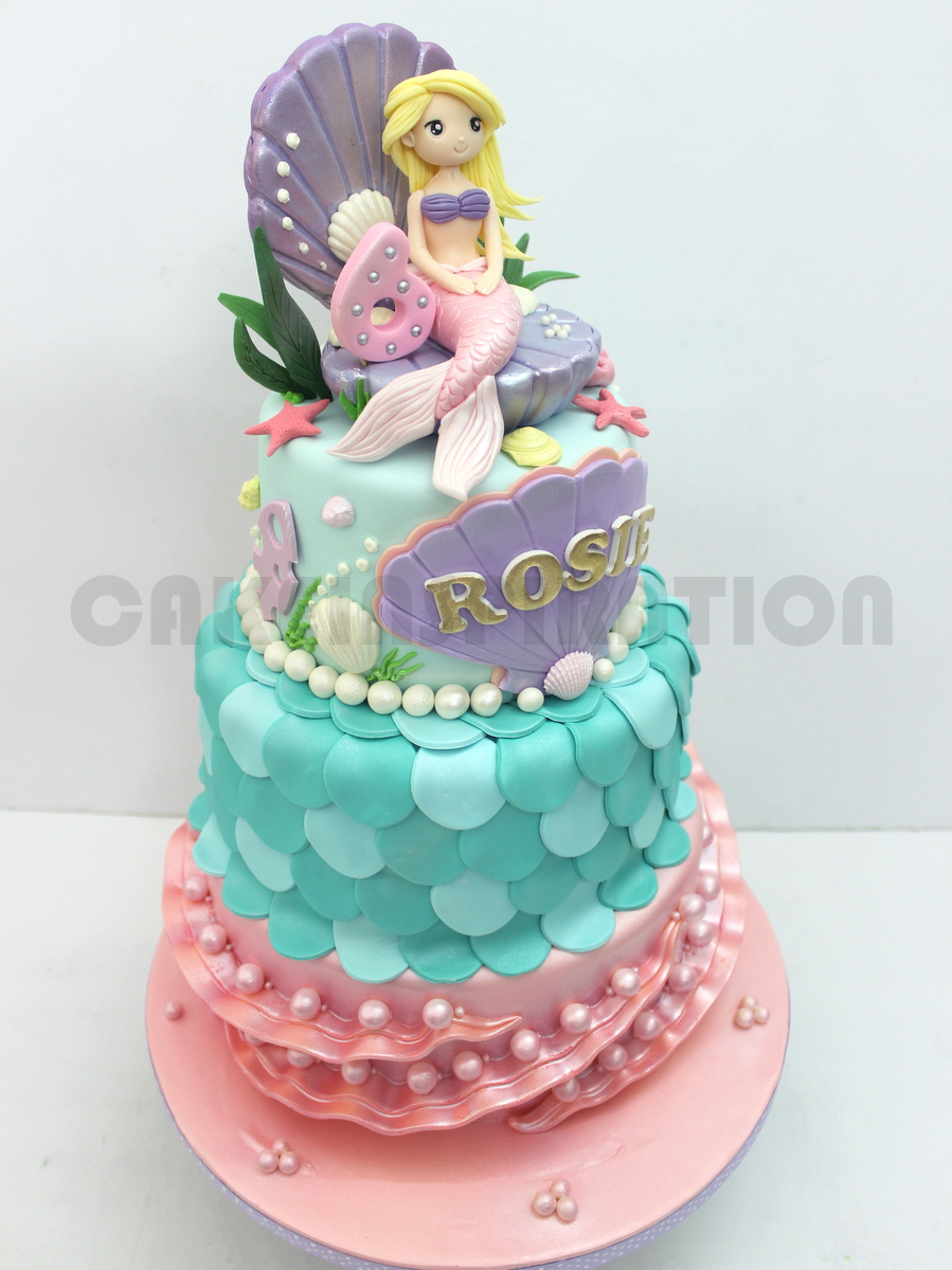 The Sensational Cakes Underwater Mermaid Princess Cake