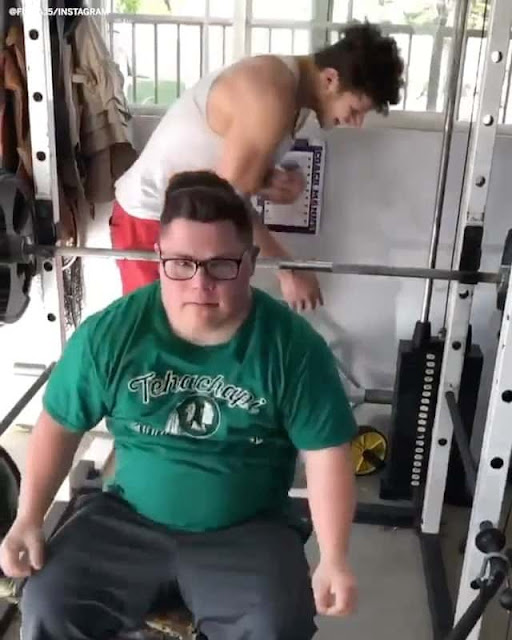 Down Syndrome Student Lift  Bench Press 355lbs/161kg