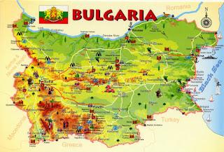 Mapa turístico de Bulgaria.