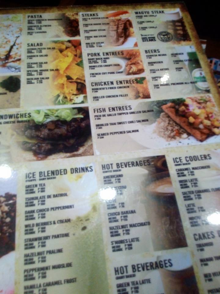 Roberto's Menu in SM Marikina