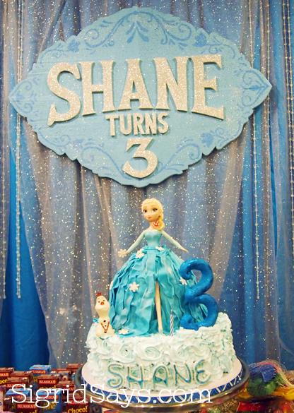 Elsa Cake, Frozen Cake