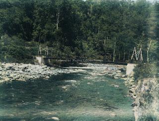 jembatan besi sungai lae renun di jalan sidikalang dan silalahi
