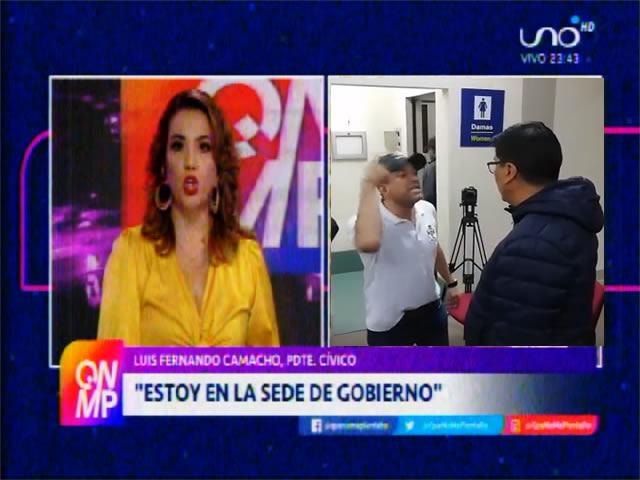 Camacho arribó sorpresivamente a La Paz, dice que tuvo ayuda policial y militar para eludir a los afines al MAS