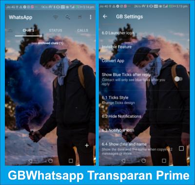 GBWhatsapp Transparan Prime