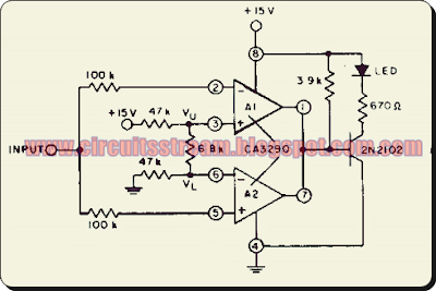 High input comparator Circuit Diagram