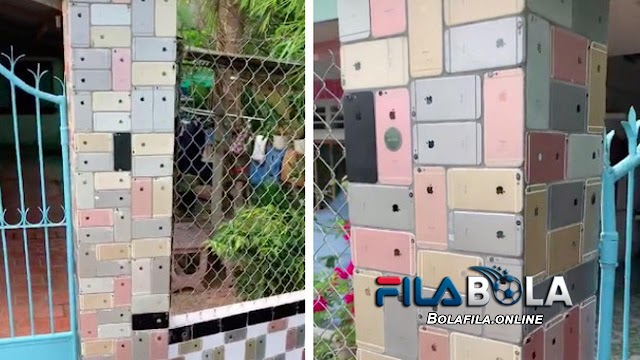 VIRAL ! Ratusan iPhone 6 Jadi Dekorasi Pagar Rumah