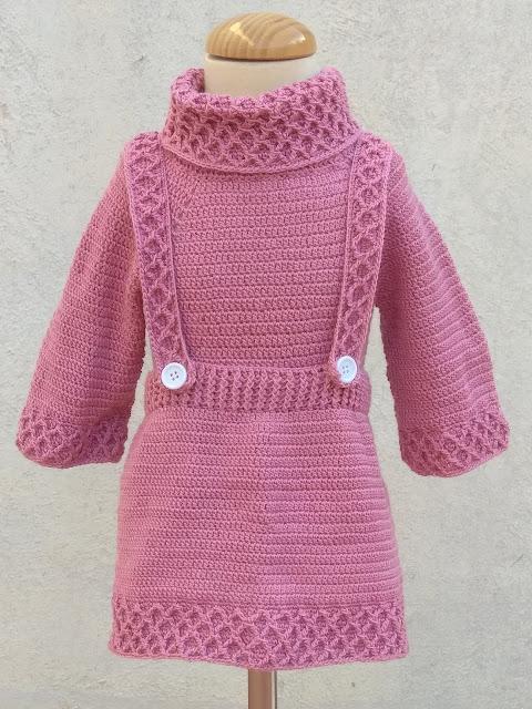1- Crochet Imagen jarsey de cuello alto a juego con falda a crochet y ganchillo por Majovel Crochet paso a paso
