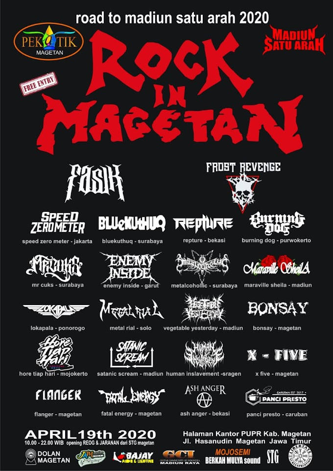 "Pekatik Magetan & MSA Proudly Presents ""Rock in Magetan"""