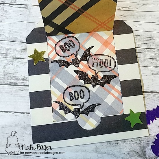 Trick or Treat Tag by Nakaba Rager | Boo Hoo Stamp Set and Halloween Trio Die Set by Newton's Nook Designs #newtonsnook #handmade #halloween