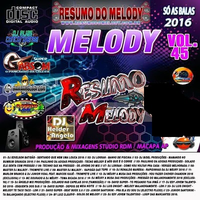 Cd (Mixado) Resumo do Melody vol.45