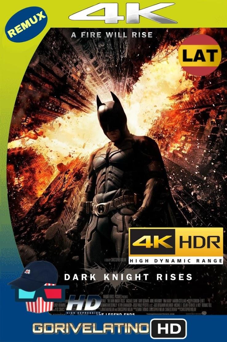 Batman: El Caballero de la Noche Asciende (2012) BDRemux 2160P 4K HDR Lat-Cas-Ing mkv