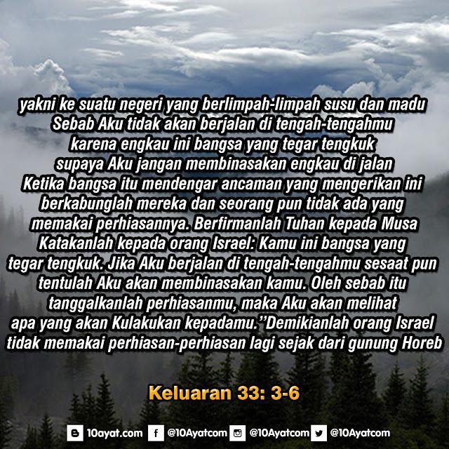 Keluaran 33: 3-6