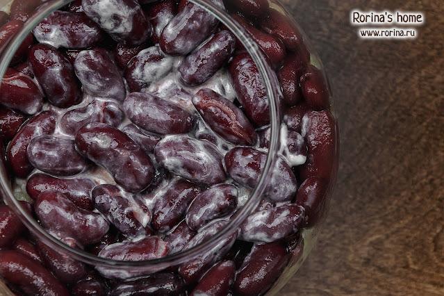 Красная фасоль в соусе: фото