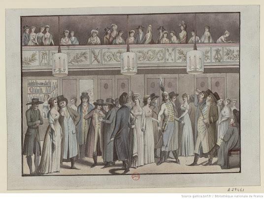 Nancy Storace y a chanté Mozart en 1797: foyer du Théâtre Montansier