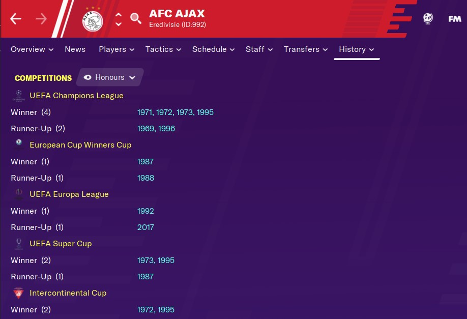 Football Manager 2021 Ajax
