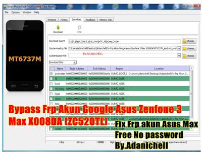 Bypass Frp Akun Google Asus Zenfone 3 Max X008DA (ZC520TL)