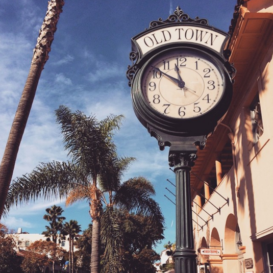 Standing clock in downtown Santa Barbara