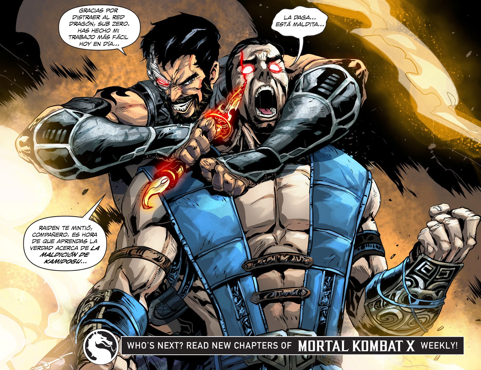 Comic Book Fan And Lover Mortal Kombat X Lazos De Sangre