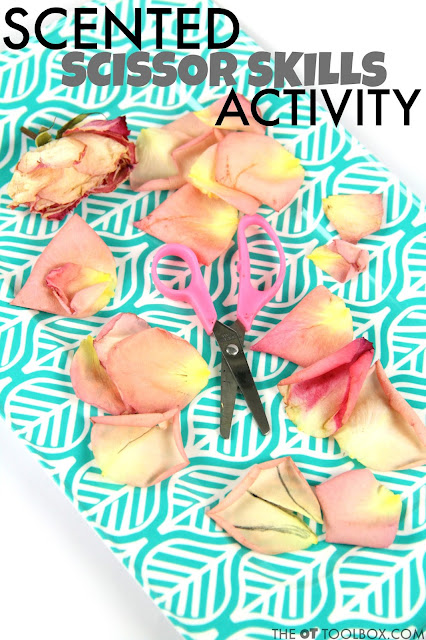Scented Scissor Skills Activity