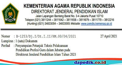 Juknis PPG Dalam Jabatan Kemenag 2021