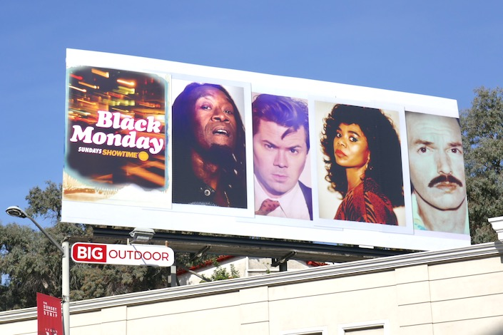 Black Monday season 2 Showtime billboard