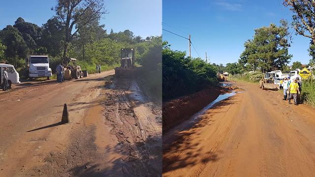 Departamento de Agricultura e Meio Ambiente realiza manutenção de estradas rurais
