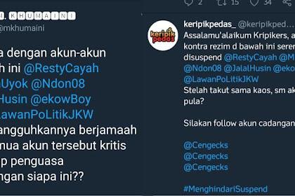 Akun-akun Kontra Rezim Jokowi Yang Sempat Disuspend Twitter Akhirnya Hidup Lagi