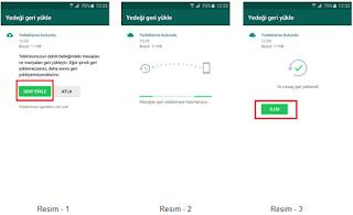 Google Drive'a yedeklenen WhatsApp yedeklerini nasıl geri yüklerim?