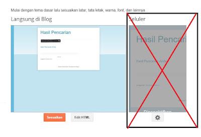 mengedit template blogger default menjadi responsive