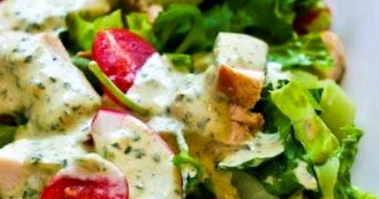 ... Chicken Chopped Salad with Cafe Rio Style Creamy Tomatillo Dressing