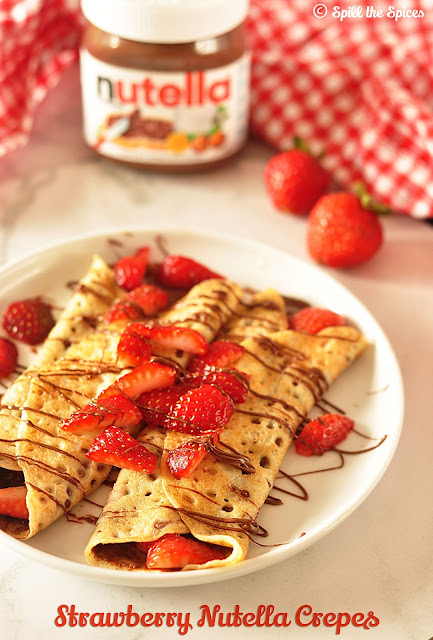 Strawberry Nutella Crepes