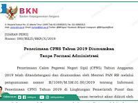 [SIARAN PERS] Resmi BKN dan Menpan, Begini Cara Melihat Formasi CPNS 11 November 2019