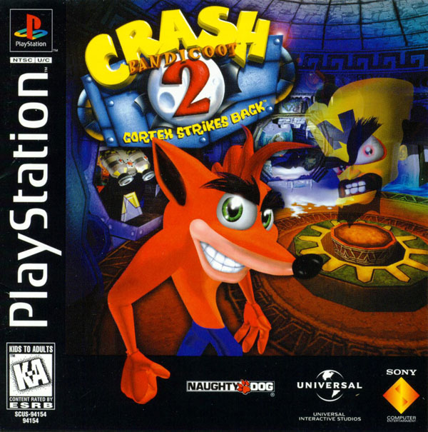 Crash Bandicoot 2: Cortex Strikes Back - PSX - Portada