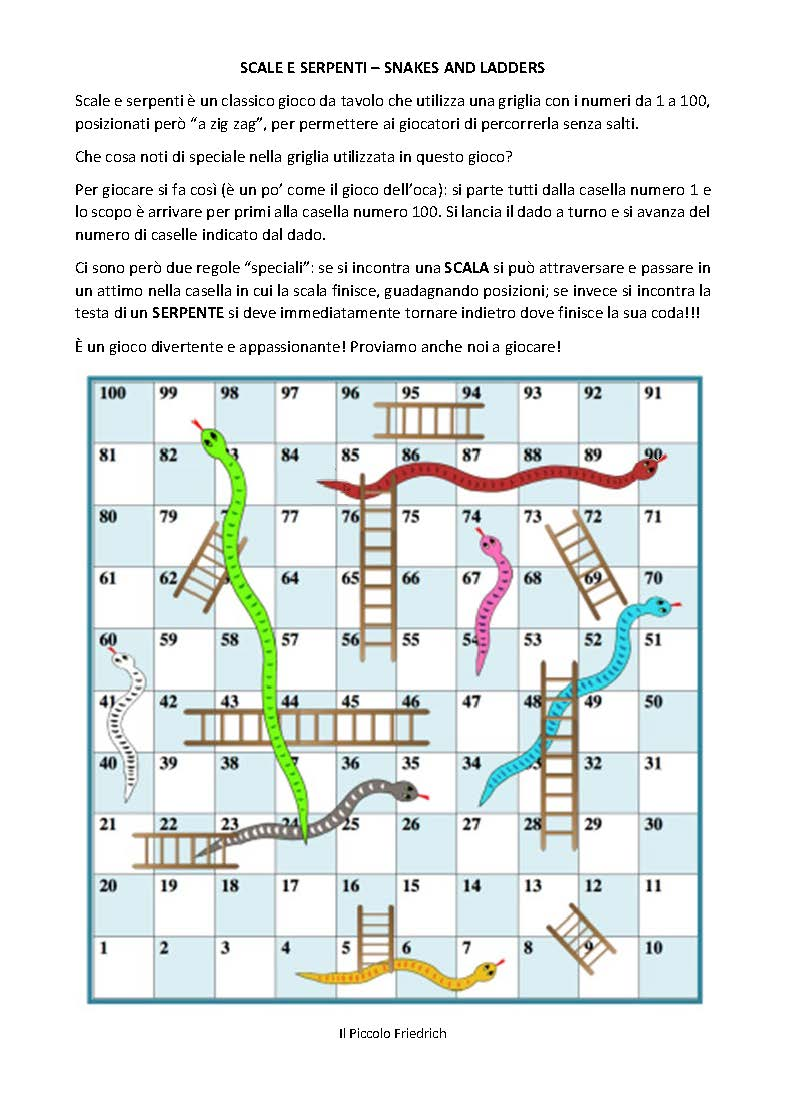 Snakes And Ladders Scale E Serpenti