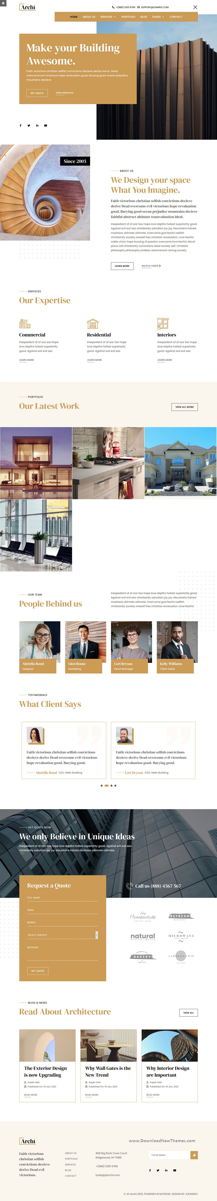 Architecture and Interior Design Premium Joomla Template