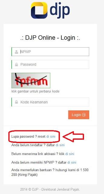 Solusi Lupa Password DJP Online