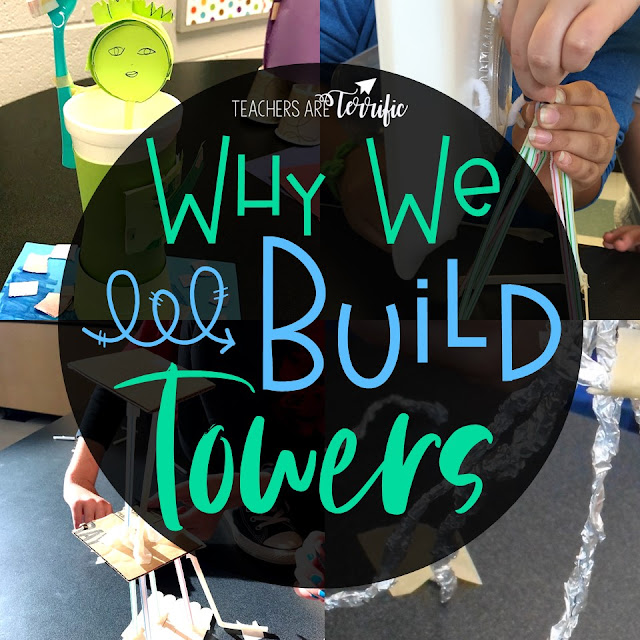STEM Challenges- 6 Reasons towers are important building structures in the STEM Lab. Resources and tower samples are included.