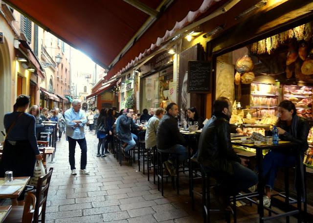 The Quadrilatero Market in La Grassa Bologna, Italy ...