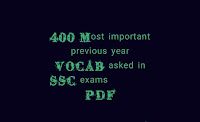 SSC Previous year vocabulary pdf