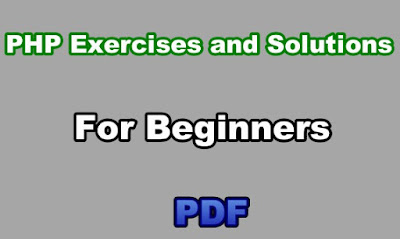 PHP Exercises and Solutions PDF For Beginners