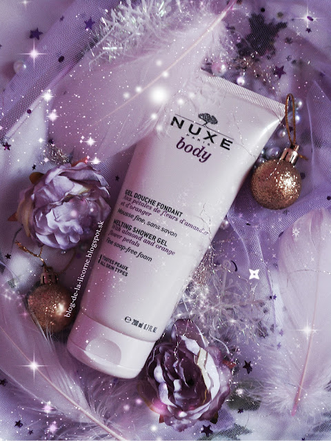 Nuxe Body Melting Shower Gel Review Nuxe Body Melting sprchový gél recenzia