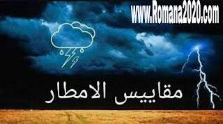 مقاييس الأمطار اليوم بالمغرب