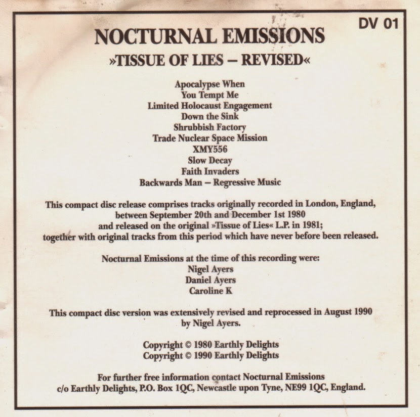 WET DREAMS: Nocturnal Emissions – Tissue Of Lies - Revised