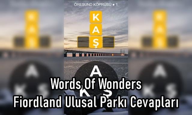 Words Of Wonders Fiordland Ulusal Parkı Cevaplar