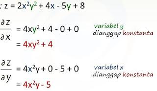 Anything: Turunan fungsi lebih dari satu variabel