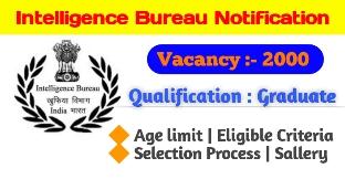 Intelligence Bureau ACIO Recruitment 2020-21 Notification Of 2000 Vacancies