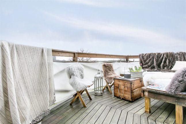 Terraza de estilo nórdico