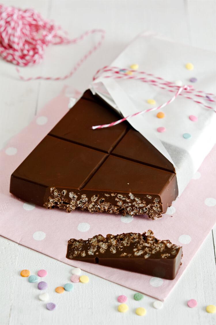 turrón de chocolate casero rápido