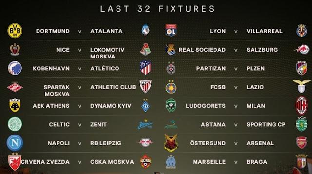 Bốc thăm vòng 1/16 Europa League: Arsenal, Milan, Dortmund dễ thở