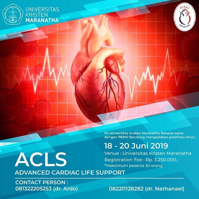 Pelatihan ACLS (Advanced Cardiac Live Support) 18-12 Juni 2019 FK Universitas Kristen Maranatha -PERKI Bandung